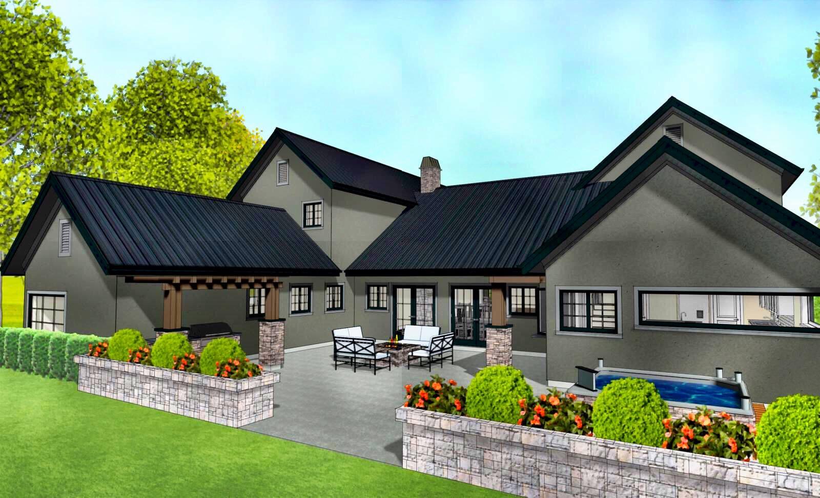 Custom Home in Fort Langley